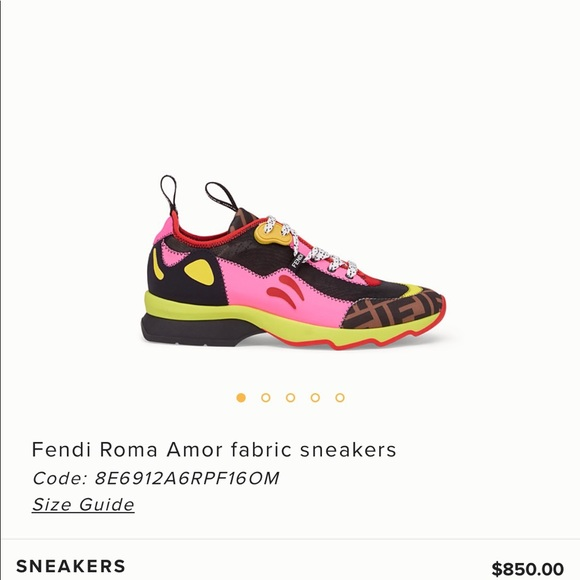 82c5ea009a Fendi Roma Amor fabric sneakers (ONLY WORN ONCE) NWT